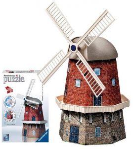 Puzzle Ravensburger 3D 216 dílků -  Větrný mlýn 216 d.