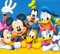Mickey a Minnie Mouse , Donald, Pluto , Daisy