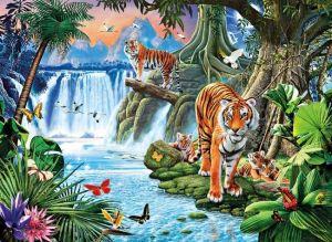 Zobrazit detail - Puzzle CLEMENTONI 3000 dílků - J.P.Krasny: Tygří rodinka