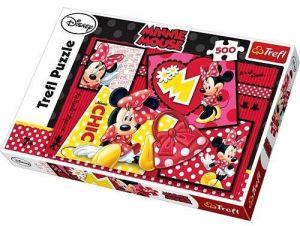 Zobrazit detail - Trefl Puzzle Myška Minnie 500 dílků