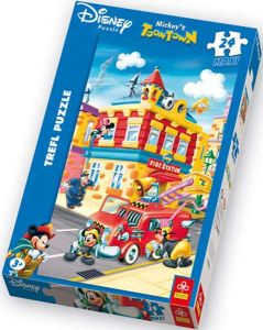 Zobrazit detail - Trefl Maxi puzzle pro děti Mickey Mouse Požární stanice 24 dílků