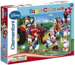 Zobrazit detail - CLEMENTONI Dětské MAXI puzzle - Mickeyho veselá farma 24 dílků