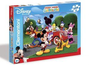 Zobrazit detail - CLEMENTONI Dětské puzzle 250 dílků Mickeyho klubík: Nové auto