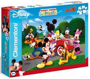 Zobrazit detail - Clementoni puzzle Maxi 104 dílků  23576   Mickey Mouse