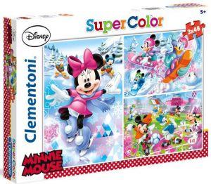 Zobrazit detail - Dětské puzzle Clementoni  - 3 x 48 dílků  -  Minnie - sport  25198