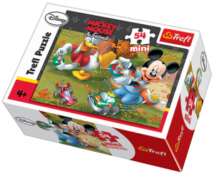 Zobrazit detail - Puzzle mini 54 d - Trefl - Mickey a Minnie Mouse   19278