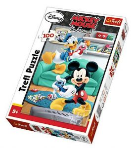 Zobrazit detail - Puzzle Trefl 100 dílků - Mickey a Donald 16291