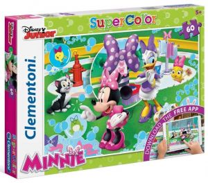 Zobrazit detail - Clementoni puzzle Supercolor 60 dílků s aplikací  Minnie 26933