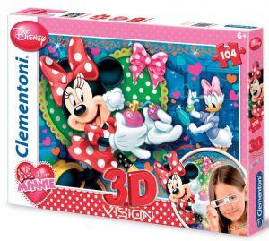 Zobrazit detail - Puzzle Clementoni 104 dílků  3D - Minnie Mouse 20080