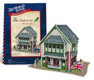 Zobrazit detail - 3 D PuzzlePuzzle  CubicFun -  Holiday world - Velká Británie  občerstvení   36  dílků   23106