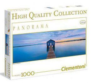 Zobrazit detail - Puzzle Clementoni 1000 dílků panorama - Uklidňující modř 39330