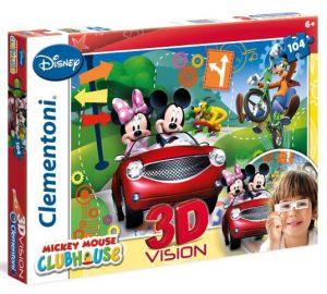 Zobrazit detail - Puzzle Clementoni 104 dílků  3D - Mickey Mouse  20605
