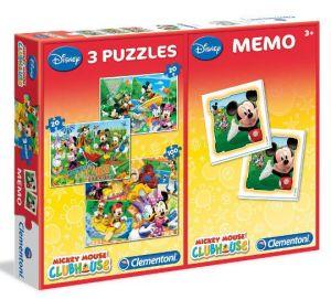 Zobrazit detail - Puzzle Clementoni 2x20  + 100  dílků + Memos ( pexeso ) -  Mickey Mouse  07808