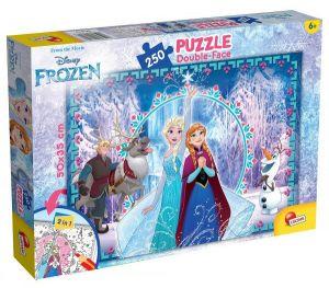 Zobrazit detail - Puzzle Lisciani  250 dílků  - Frozen - Ledové království - oboustranné