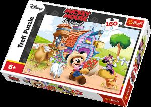Zobrazit detail - Puzzle Trefl 160 dílků - Farmář Mickey  -  15337