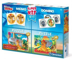 Zobrazit detail - Super Kit  - hry 4v1 ( 2x  puzzle , domino , pexeso )  Lví hlídka  08212