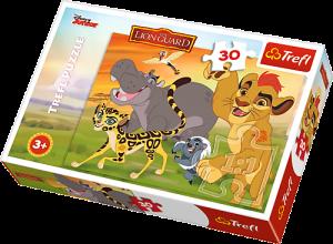 Zobrazit detail - Trefl puzzle  30 dílků  - Lví hlídka - 18210