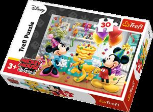 Zobrazit detail - Trefl puzzle  30 dílků  - Mickey - Oslava narozenin  - 18211