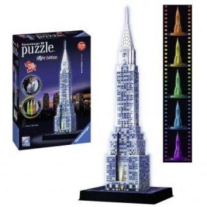 Zobrazit detail - Ravensburger 3D puzzle Chrysler Building - noční edice 216 dílků