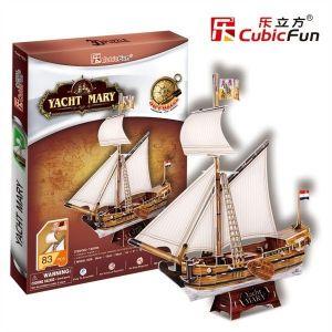 3D puzzle CubicFun  Jachta Mary 83 dílků