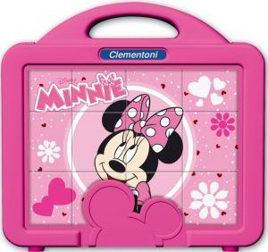 CLEMENTONI Dětské obrázkové kostky  ( kubus ) - Minnie  Mouse 12 kostek v kufříku 41340