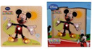 Eichhorn - dřevěná vkládačka 6 ks - Mickey Mouse