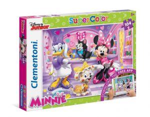 Puzzle Clementoni - 104 dílkú  s aplikací -  Minnie   20700