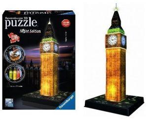 Zobrazit detail - Ravensburger 3D puzzle Big Ben Noční Edice 216d