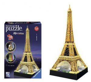 Zobrazit detail - Ravensburger 3D puzzle Eiffelova věž LED 216 dílků