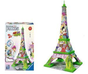 Zobrazit detail - Ravensburger 3D puzzle Eiffelova věž Pop Art 216 dílků
