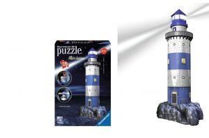 Zobrazit detail - Ravensburger 3D puzzle Maják v příboji Noční edice 216 dílků