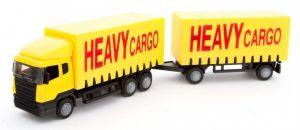 TEAMA - kamión Scania s přívěsem   1:87  - žlutá  barva