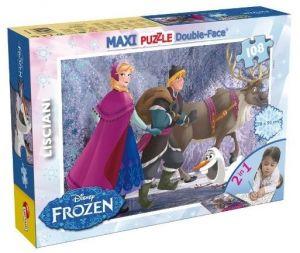 Puzzle Lisciani  108 dílků MAXI  - oboustranné -  Frozen  46898