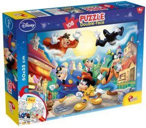 Puzzle Lisciani  108 dílků - oboustranné - Mickey II - 48021