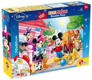 Puzzle Lisciani  150 dílků MAXI  - oboustranné - Mickey  48328