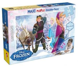 Puzzle Lisciani  35 dílků MAXI  - oboustranné - Frozen   46867