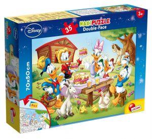Puzzle Lisciani  35 dílků MAXI  - oboustranné - Mickey  48199
