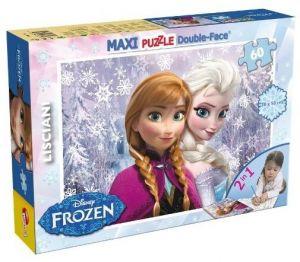 Puzzle Lisciani  60 dílků MAXI  - oboustranné - Frozen 46881