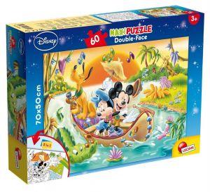 Puzzle Lisciani  60 dílků MAXI  - oboustranné - Mickey  48205