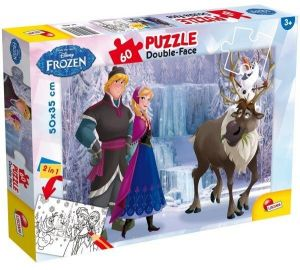 Puzzle Lisciani  60 dílků - oboustranné - Frozen 49295