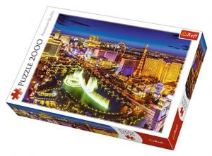 Puzzle Trefl 2000 dílků - Noční Las Vegas  27081