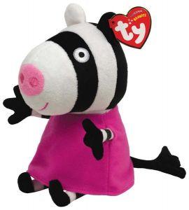 TY Beanie Babies - Peppa Pig - prasátko Pepina  zebra Zoe -  15 cm plyšák - plyšová hračka