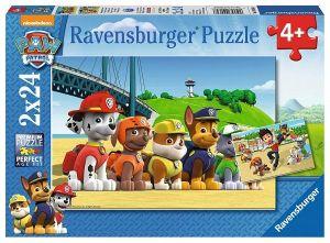 Puzzle Ravensburger  2x24 dílků Psí hlídková patrola  090648