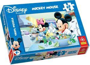Zobrazit detail - 60 dílků - Mickey Mouse - salát  -  puzzle   Trefl