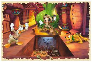 Zobrazit detail - 60 dílků - Mickey Mouse - dobrodružství   -  puzzle   Trefl