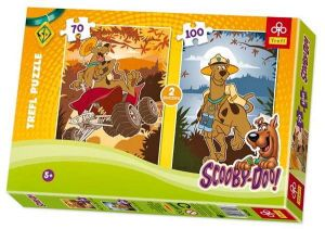 Zobrazit detail - 70 a 100  dlk Scooby Doo -  puzzle   Trefl 2v1 