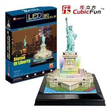 3 D Puzzle CubicFun - Socha Svobody 37 d. LED - svítící Cubic Fun