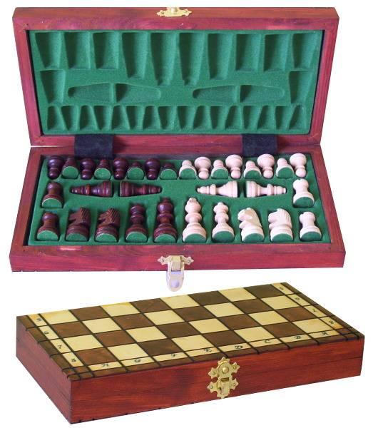 Dřevěné šachy menší - turistické Filipek