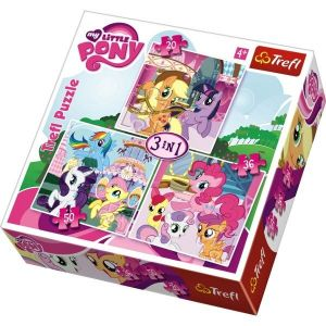 20 , 36 a 50  dílků -  My Little Pony -  puzzle   Trefl 3v1