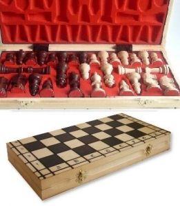 Dřevěné šachy - velké - rytířské ( FILIPEK sz-46 )